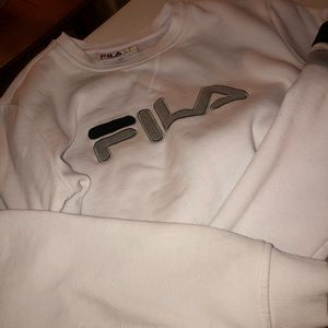 white Fila sweatshirt